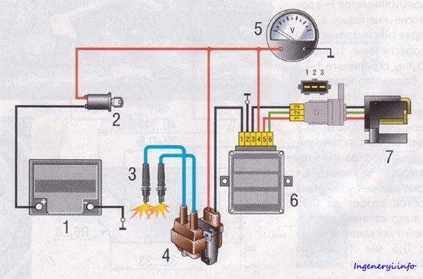 Двухконтурное зажигание с одним датчиком холла и двумя