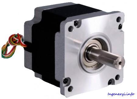 Шаговый двигатель NT130STH, 3-х фазный 1.2°