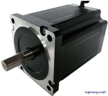 Шаговый двигатель NT86STH, 3-х фазный 1.2° NEMA 34