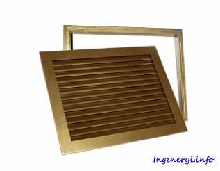 Решетка вентиляционная переточная с ответной рамкой ГАЛ-П