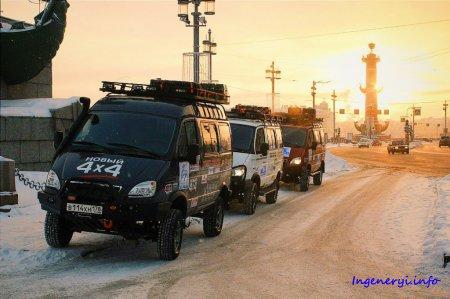 Экспедиция на внедорожниках «Соболь 4х4» отправилась к Северному Ледовитому океану