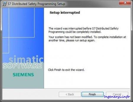 Решение проблем с установкой пакета SIMATIC Distributed Safety