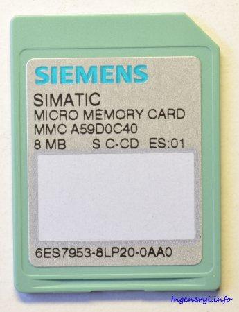 Образы фирменных карт памяти MMC для Simatic S7-300.