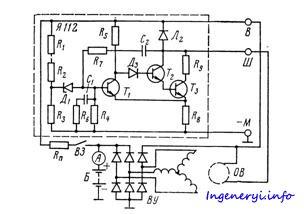 Схема регулятора напряжения ваз фото 34