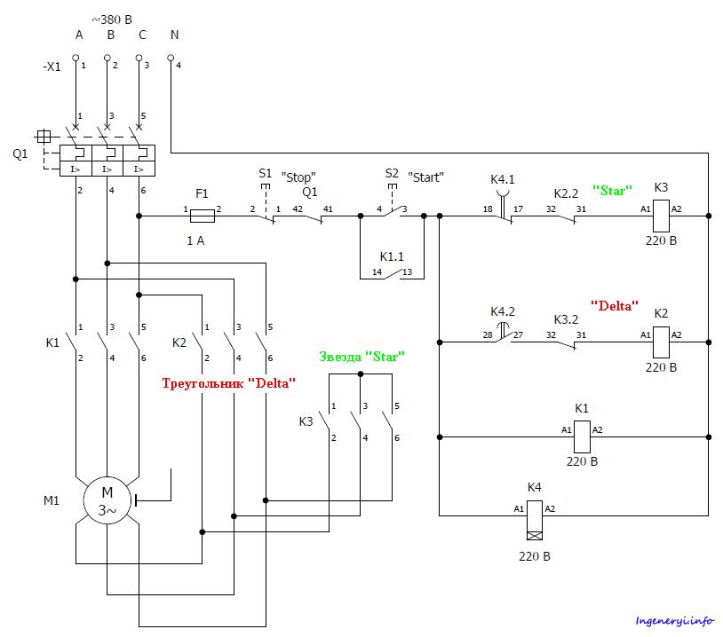Схема соединения двигателя звездой фото 351